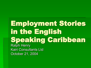 Employment Stories in the English Speaking Caribbean