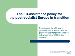 The EU-assistance policy for the post
