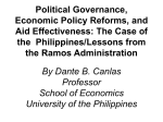 Political Governance, Economic Policy Reforms, and Aid
