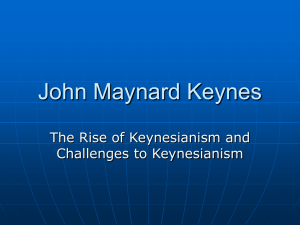 John Maynard Keynes - Washington State University