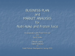 BUSINESS PLAN and MARKET ANALYSIS
