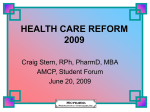 HEALTH CARE REFORM 2009 - Pro Pharma Pharmaceutical