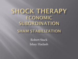 Shock Therapy Economic Subordination Sham Stablization