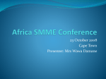 SMME Conference - Africagrowth Institute