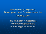 Mainstreaming Migration, Development and Remittances at