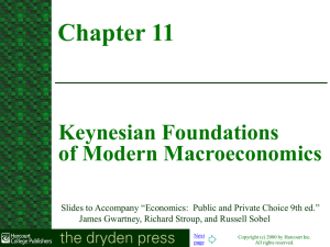 Keynesian Foundations of Modern Macroeconomics