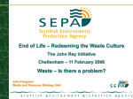 National Waste Strategy - The John Ray Initiative