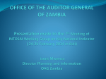 OFFICE OF THE AUDITOR OF ZAMBIA