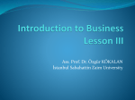 Introduction to Business Lesson III