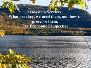 Ecosystem Services: What are they, we need them, and how to