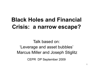 Black Holes and Financial Crisis