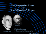 The Keynesian Cross and the `Classical` Cross: Keynes and