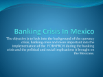 Banking Crisis In Mexico