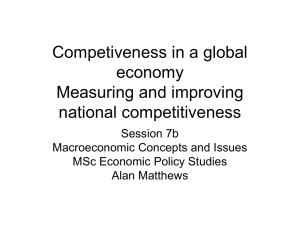 Lecture7b More on competitiveness