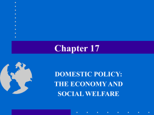 Chapter 17 DOMESTIC POLICY