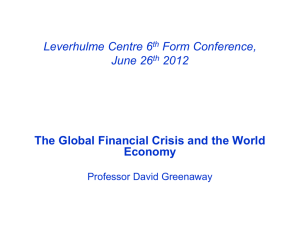 The Global Financial Crsis and The World Economy