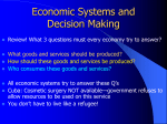Comparative Economic Systems and Decision Making