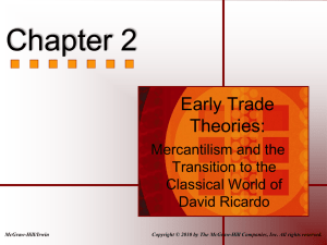 Mercantilism and Early Classical Thought
