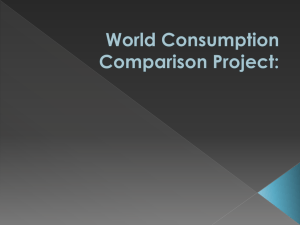 World Consumption Comparison Project