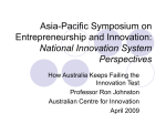 Asia-Pacific Symposium on Entreprenurship and Innovation