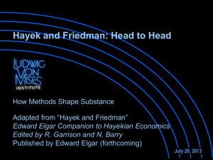 Garrison Lect-1. 4 Hayek and Friedman