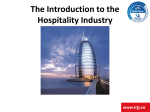 W1 The Introduction to the Hospitality Industry1