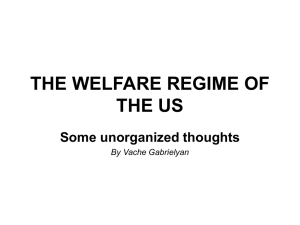 The concept of the Welfare State in the United States of America