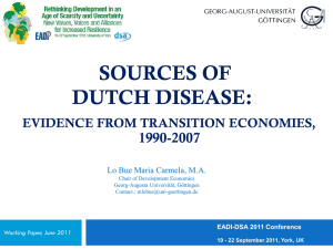 Sources of Dutch Disease: Evidence from Transition Economies