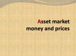 Asset market money and prices