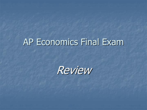 AP Economics Final Exam