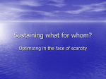 Sustaining What for Whom? (PowerPoint presentation)