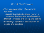 Ch. 14- The Economy