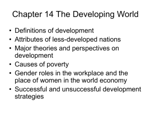 Chapter 13 The Developing World