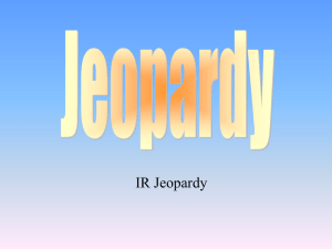 World order & IR Theories Jeopardy