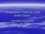 Consumption Patterns in the the United States