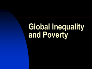 Global Inequality and Poverty