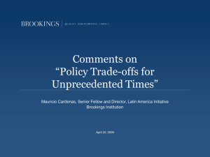 "Comments on ""Policy Trade-offs for Unprecedented Times"""
