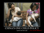 One Child Policy in Rural China. - Watford Grammar School for Boys