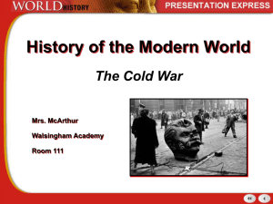 Cold War Unfolds-Wk 3 st. ed.