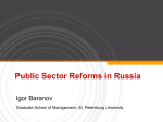 Public Sector Reforms in Russia