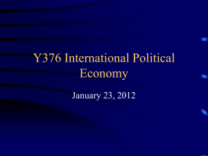 Y376 International Political Economy