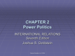 CHAPTER 2 Power Politics