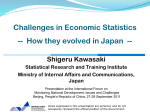 Challenges in Economic Statistics: How they evolved in Japan