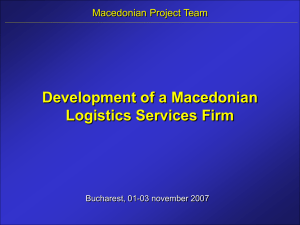 Development of a Macedonian Logistics Services Firm