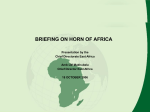 BRIEFING ON HORN OF AFRICA Presentation by the Chief