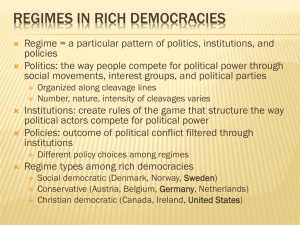 Regimes in rich democracies