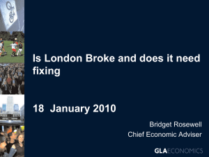 Is London Broke and does it need fixing?
