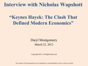 Wapshott Interview on Keynes Hayek