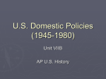 U.S. Domestic Policies