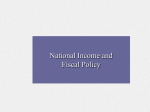 Chapter 20: The Government and Fiscal Policy